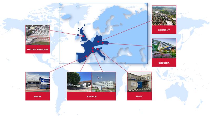 Saint-Gobain Performance Ceramics & Refractories est présent dans le monde entier avec 11 sites industriels offrant un support de fabrication étendu à partir de huit usines de SEPR et une présence commerciale et technique / ingénieur d'application sur les six continents.