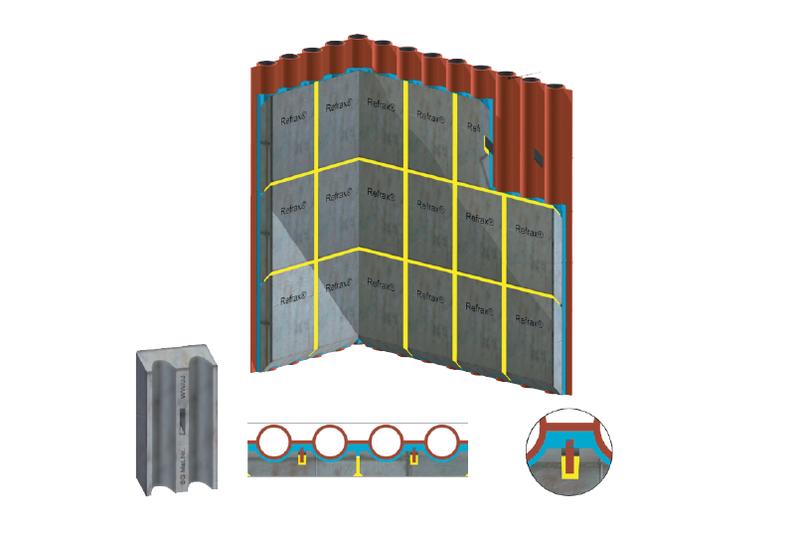 这种简单而经济的选择是任何安装系统的理想选择。 适用于包括侧壁、后壁和前壁在内的垂直锅炉管壁,以及包括入口天花板、烧毁天花板和锅炉天花板的倾斜天花板管